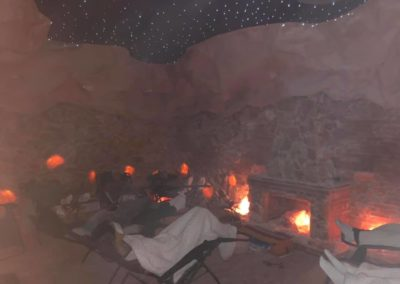 Yoga Nidra in Cave w people in chairs